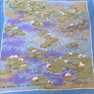 Christian Dior Vintage Scarf Monet Lily Pond